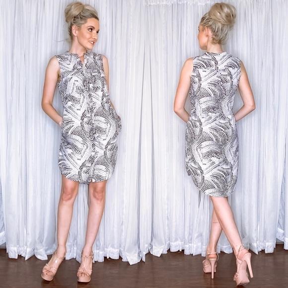H&M Dresses & Skirts - Animal Print Button Down Dress